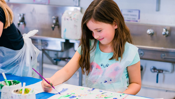 Get creative with painting during the school holidays.